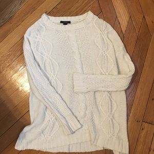 Forever 21 Sweaters - Oversized White Cable-Knit Sweater 🕊